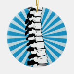 Ornamento de la espina dorsal de la explosión del  ornamento para arbol de navidad
