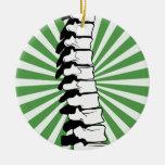 Ornamento de la espina dorsal de la explosión del  ornamento de navidad