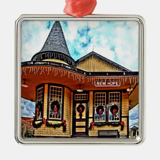 Ornamento de la estación de NewHope Ornamento De Navidad