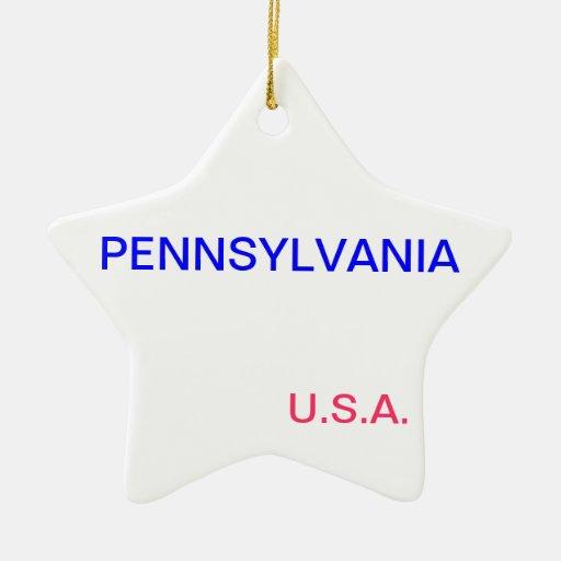 Ornamento de la estrella con Pennsylvania y Adorno De Cerámica En Forma De Estrella