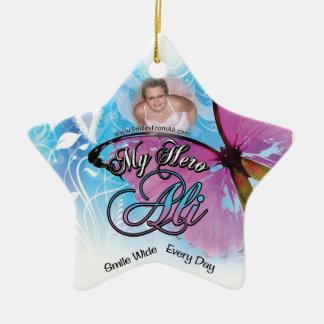 Ornamento de la estrella de Ali Borgen Adornos De Navidad