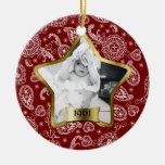 Ornamento de la estrella de Borgoña Ornamentos Para Reyes Magos