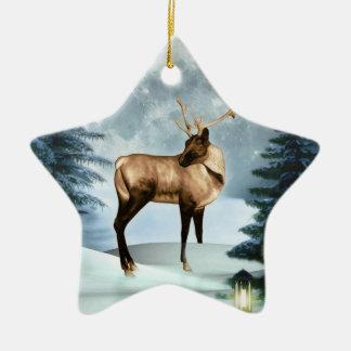 Ornamento de la estrella de la escena del invierno ornamentos de reyes