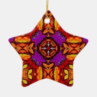 Ornamento de la estrella de la flor de la teja ornamento de reyes magos