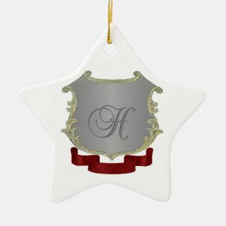Ornamento de la estrella de la letra H del Adorno Navideño De Cerámica En Forma De Estrella