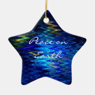 Ornamento de la estrella de la tierra de adorno de cerámica en forma de estrella