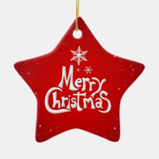 Ornamento de la estrella de las Felices Navidad Ornamento Para Reyes Magos