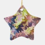 Ornamento de la estrella de las pilas del color