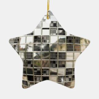 Ornamento de la estrella de Mirrorball del disco Ornato