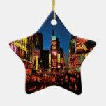 Ornamento de la estrella de New York City Adorno De Navidad