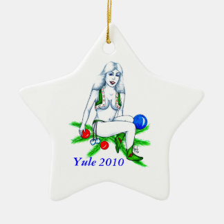Ornamento de la estrella de Yule 2010 Adorno De Navidad