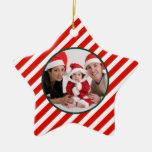 Ornamento de la estrella del bastón de caramelo de adorno de navidad