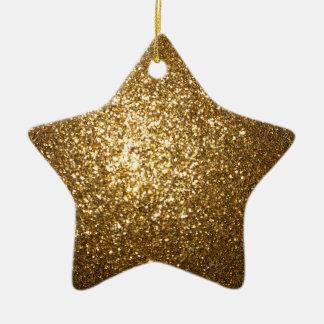 Ornamento de la estrella del brillo del oro ornamentos de reyes