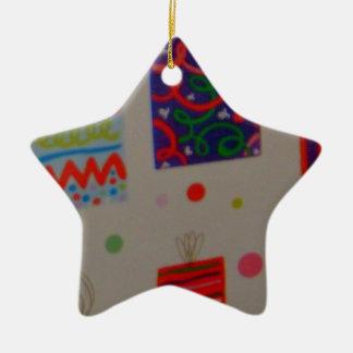 Ornamento de la estrella del cumpleaños/del diseño ornamentos de navidad