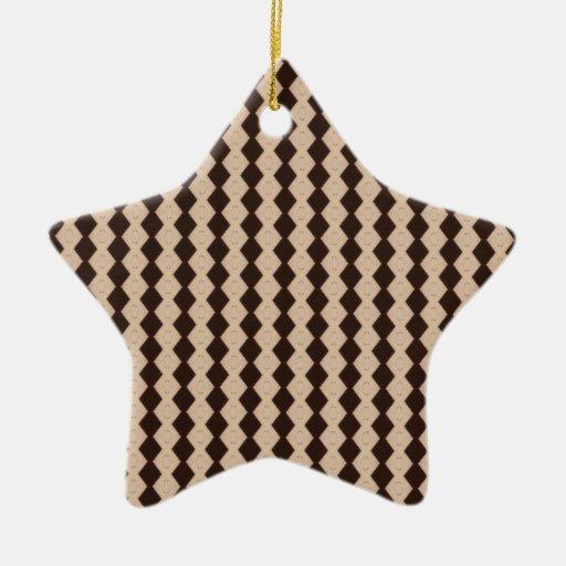 Ornamento de la estrella del modelo del diamante adornos de navidad