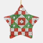 Ornamento de la estrella del mosaico del día de fi adorno