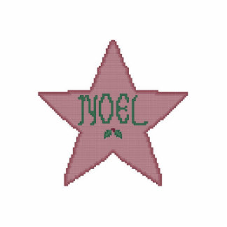Ornamento de la estrella del navidad adorno fotoescultura