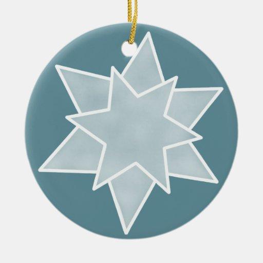 Ornamento de la estrella del navidad, azul sereno ornato