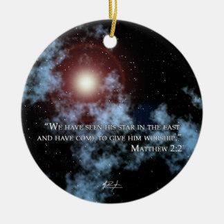 Ornamento de la estrella del navidad ornamentos para reyes magos