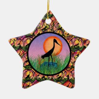 Ornamento de la estrella del pájaro de la puesta d adornos