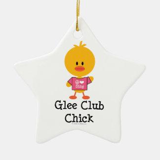 Ornamento de la estrella del polluelo del club de adorno de cerámica en forma de estrella