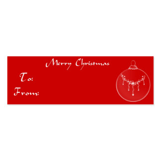 Ornamento de la etiqueta del regalo del navidad tarjetas de visita mini