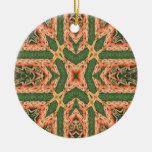 Ornamento de la explosión del naranja ornamentos de navidad