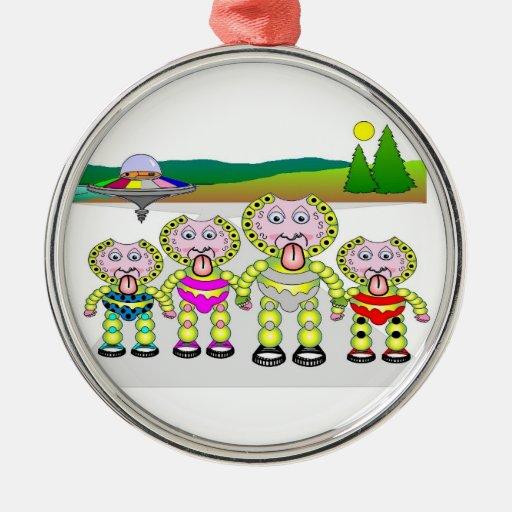 Ornamento de la familia de la burbuja adorno navideño redondo de metal