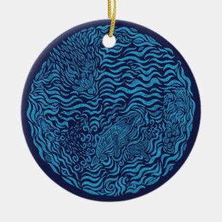 Ornamento de la familia del océano ornaments para arbol de navidad