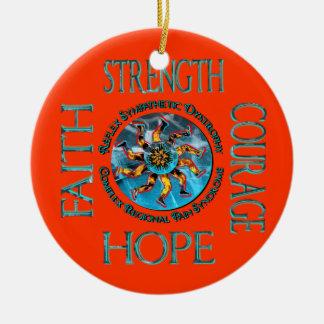Ornamento de la fe de la esperanza del valor de la adorno de navidad