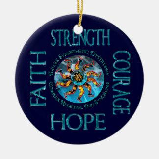 Ornamento de la fe de la esperanza del valor de la ornamentos para reyes magos