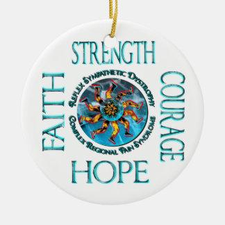 Ornamento de la fe de la esperanza del valor de la adornos de navidad