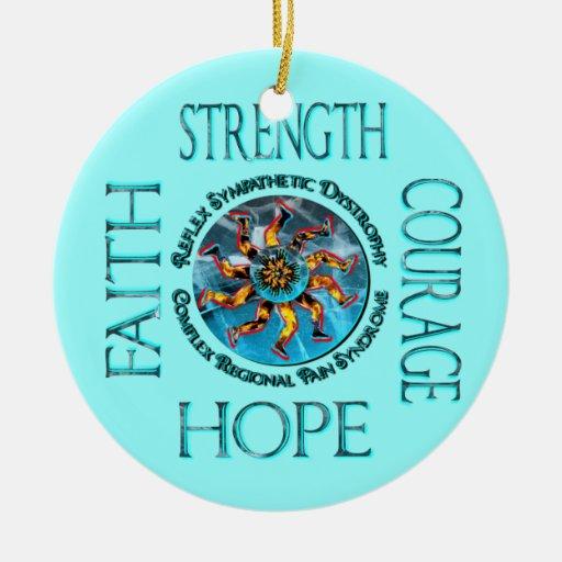 Ornamento de la fe de la esperanza del valor de la adorno de reyes