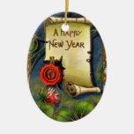 Ornamento de la Feliz Año Nuevo Adorno Para Reyes