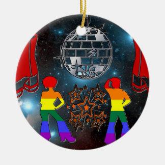 Ornamento de la fiebre del disco ornamento de navidad