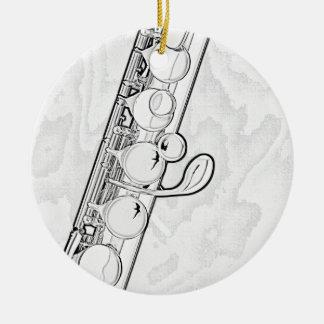 Ornamento de la flauta adornos de navidad