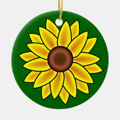 Ornamento de la flor del girasol ornato