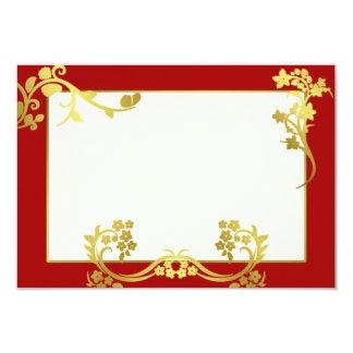 """Ornamento de la flor del oro invitación 3.5"""" x 5"""""""
