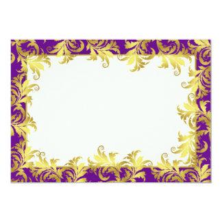 """Ornamento de la flor del oro invitación 5"""" x 7"""""""