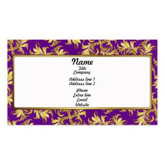 Ornamento de la flor del oro tarjetas de visita