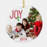 Ornamento de la foto de la alegría dos de las Feli Ornamento De Navidad