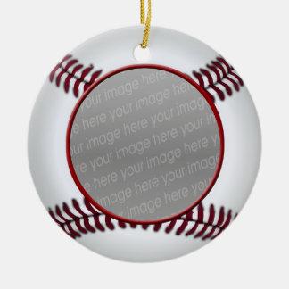 ornamento de la foto de la bola del béisbol adorno de navidad