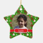 Ornamento de la foto de la estrella de los niños adornos de navidad