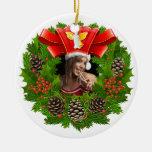 Ornamento de la foto de la guirnalda del navidad adorno de reyes