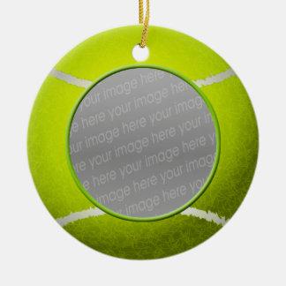 Ornamento de la foto de la pelota de tenis ornamentos de reyes