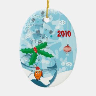 Ornamento de la foto de los pares del navidad de adorno de navidad