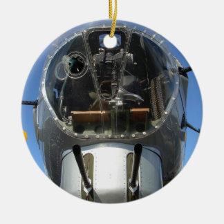 Ornamento de la foto de Seat de la torrecilla del Adorno Navideño Redondo De Cerámica