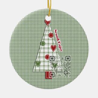 Ornamento de la foto del árbol de navidad con adorno