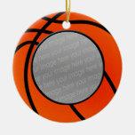 ornamento de la foto del baloncesto adornos de navidad