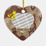 Ornamento de la foto del corazón del ejército ornamente de reyes
